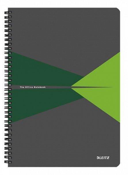 Caiet spira,A4,Leitz,PP,verde,dict