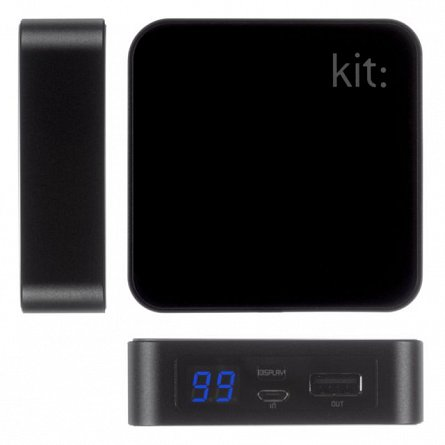 Baterie externa 6000mAh Kit Premium, Negru