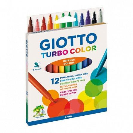 Markere pt copii,Giotto Turbo Color,12buc/set