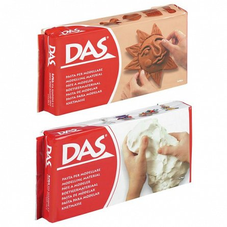 Pasta modelatoare,Das,500g,alb