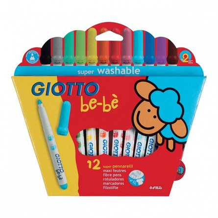 Markere pt copii,Giotto Be-Be,12buc/set