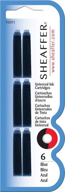 Rezerva stilou (Patroane cerneala) Sheaffer, scurte, albastru, 6 buc/set