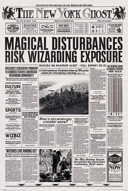 Poster Fantastic Beasts (The New York Ghost),61X91.5cm