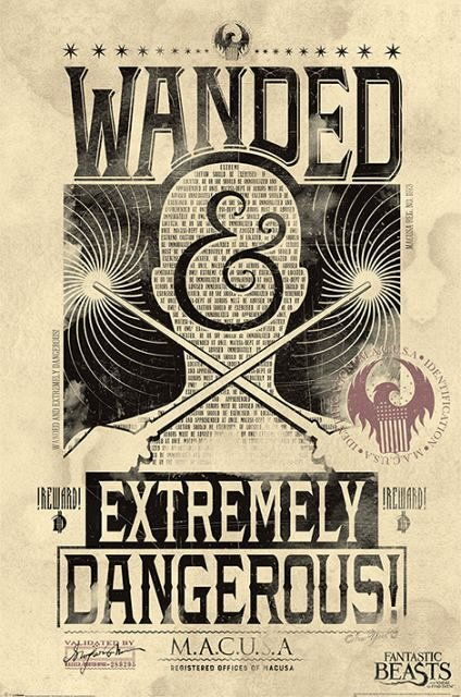 Poster Fantastic Beasts (ExtremelyDangerous),61X91.5cm
