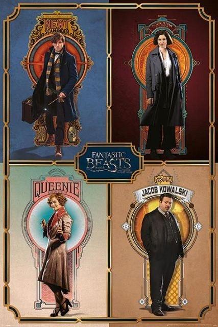 Poster Fantastic Beasts (Framed Cast),61X91.5cm