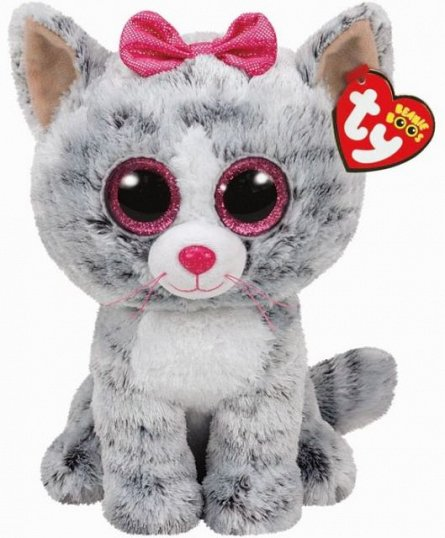Plus TY Kiki,pisica gri,24cm