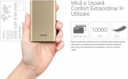 Baterie externa 10050mAh Asus ZenPower, Neagra, 2.4A