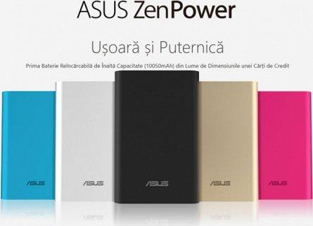 Baterie externa 10050mAh Asus ZenPower, Aurie, 2.4A