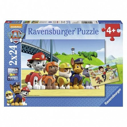 Puzzle Ravensburger - Patrula catelusilor, 2x24 piese