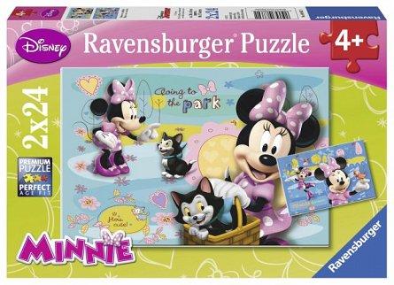 Puzzle Minnie Mouse,2x24pcs
