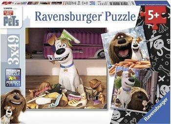 Puzzle Pets,singuri acasa,3x49pcs