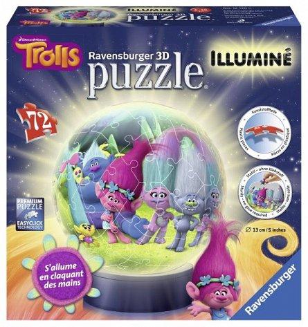 Puzzle 3D luminos,Trolls,72pcs
