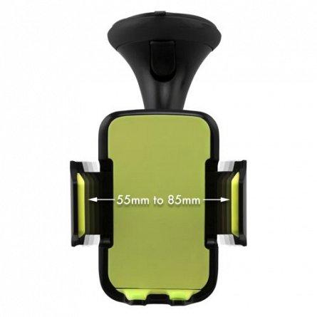 Suport auto telefon, pt parbriz,max83mm - Kit Premium