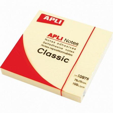 Notite adezive Apli, 38 x 51 mm, 300 file, galben