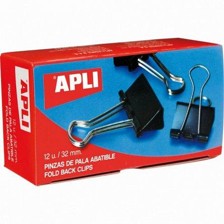 Clipsuri metal Apli,32mm,12buc/cutie,negre
