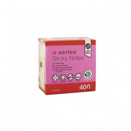 Cub notite adezive A-Series,400file,4culori