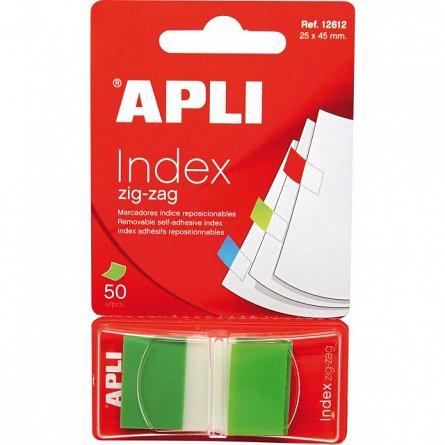 Index adeziv  Apli, 25 x 45 mm, 50 file, verde