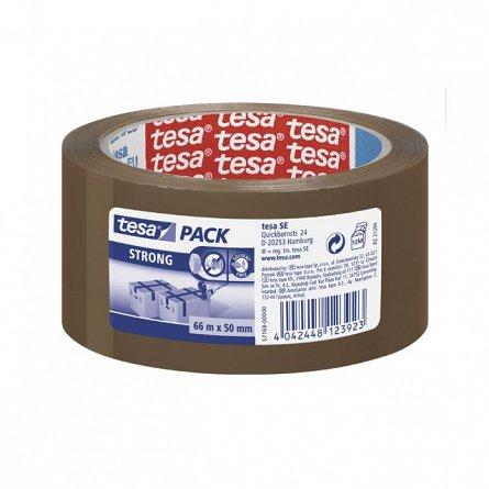 Banda adeziva Tesa, 50 mm x 66 m, Strong, maro