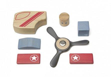 Looper, set din lemn magnetic Tegu