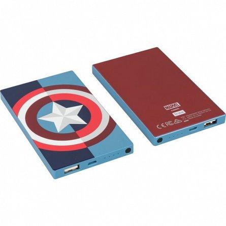 Baterie externa 4000mah Marvel Captain America, 2A
