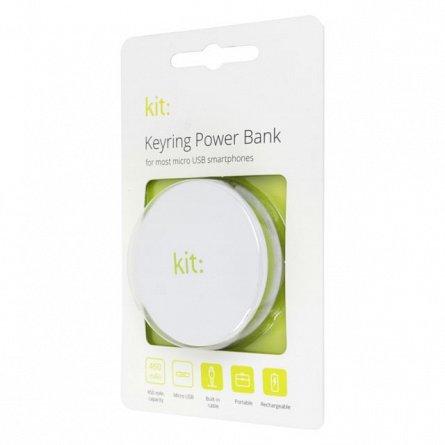 Baterie externa 450mAh Kit Travel Power, MicroUSB, Alba