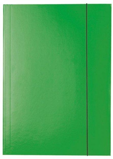 Mapa A4,carton,cu elastic,verde