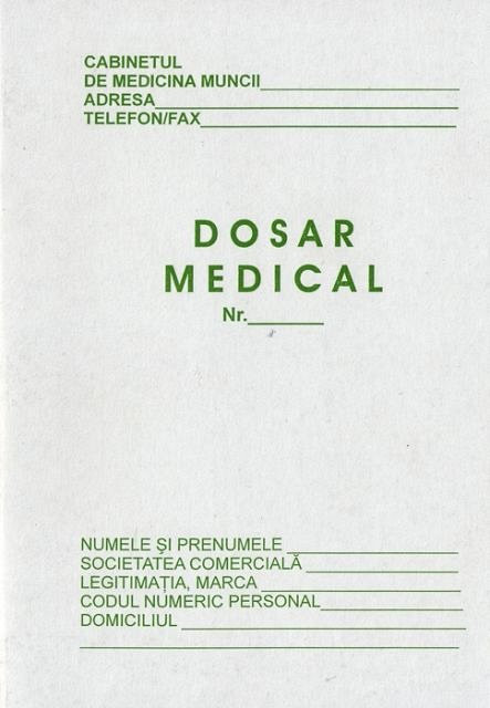 Dosar medical individual,A5,carnet,8 file