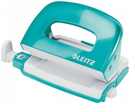 Perforator Leitz mini 5060,10coli,turcoaz