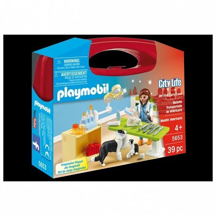 Playmobil-Set portabil,In vizita la veterinar