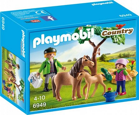 Playmobil-Veterinar cu ponei si manz