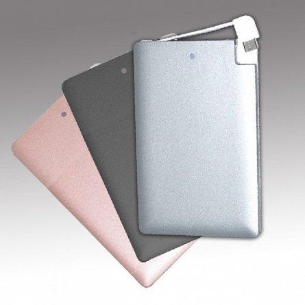 Baterie externa 2000mAh Mayhem Credit Card, Gri