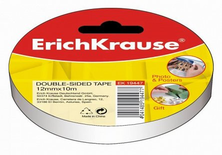 Banda dublu adeziva 12mmx10m,ErichKrause