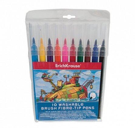 Markere pt copii,10/set,tip pensula,ErichKrause