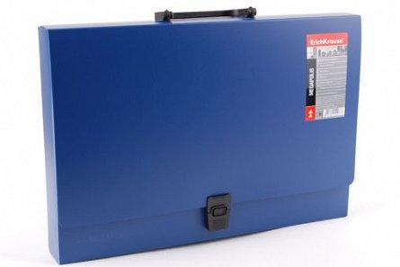 Servieta plastic A4,1comp,Megapolis,albastru