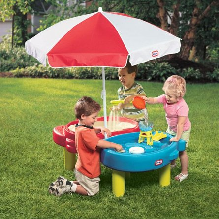 Masuta nisip si apa,cu umbrela,Little Tikes