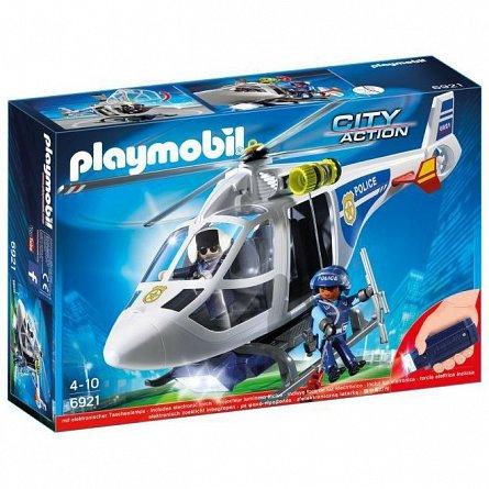 Playmobil-Elicopter de politie,cu led