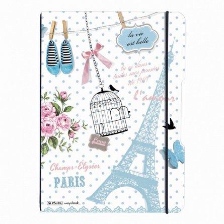 Caiet A4 My.Book Flex,2x40f,d+m,Vintage Paris