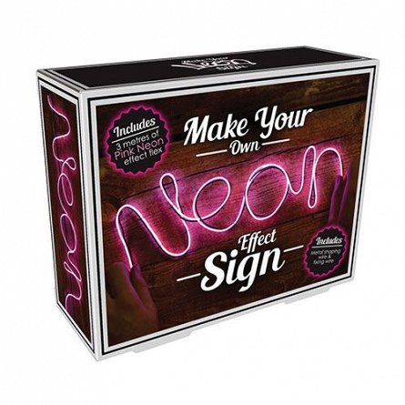Cablu luminescent Fizz Neon Sign Effect, roz