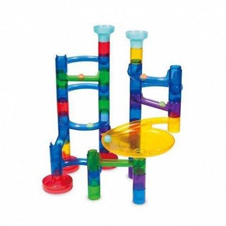 Joc constructie,traiectoria bilei,35 pcs,reflectorizant,Galt