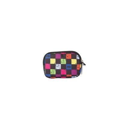 Pouch Pixie,15x11x2.3cm,negru/chequered