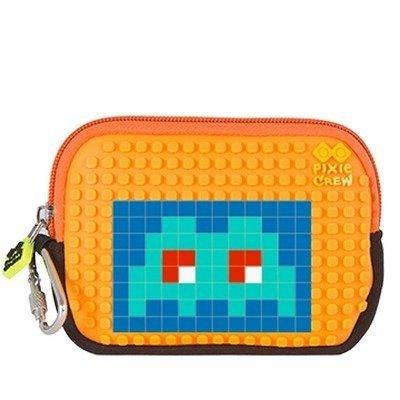 Pouch Pixie,15x11x2.3cm,orange/puzzle