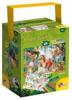 Puzzle in cutie,maxi,Cartea junglei,48pcs+6carioci