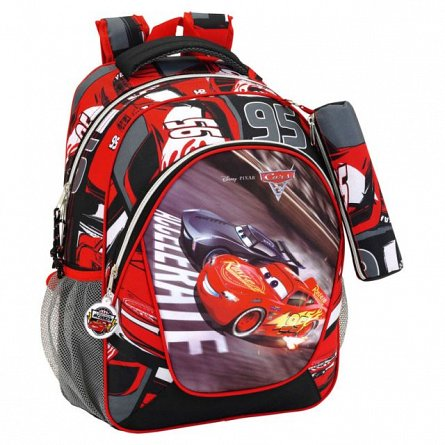 Rucsac 32x44x14cm+pouch,Cars3