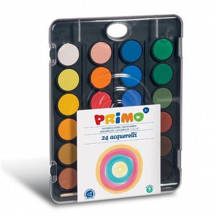 Acuarele Primo,24 culori,diam.30mm