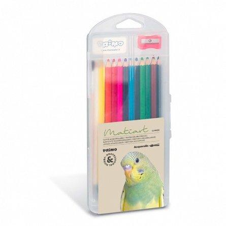 Creioane colorate,12buc/set,acuarel,Primo