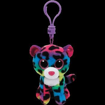 Breloc plus TY Dooty,Leopard multicolor,8.5cm
