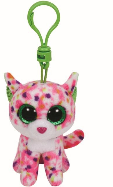 Breloc plus TY Sophie,Pisica roz,8.5cm