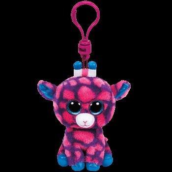 Breloc plus TY Sky High,Girafa roz,8.5cm