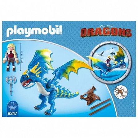 Playmobil-Astrid si Stormfly