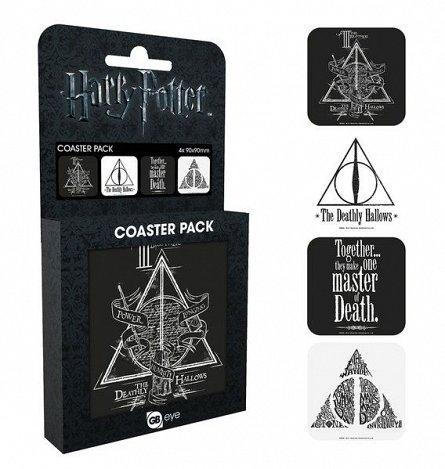 Suporturi Pahar Harry Potter: Deathly Hallows, 4buc